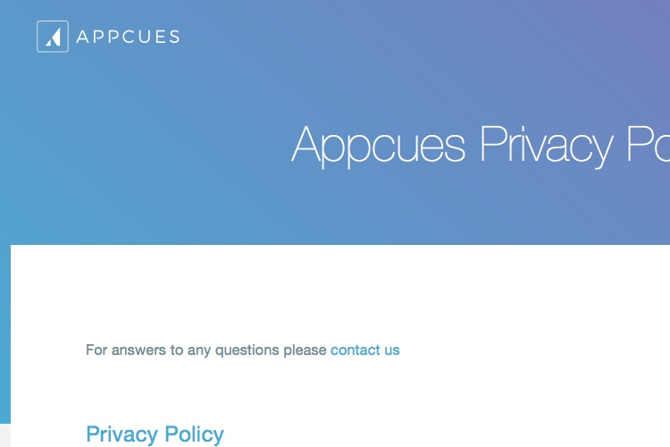 Screenshot of Appcues