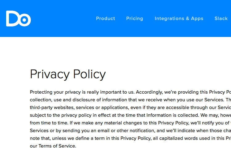 Privacy Policy Template + Generator - Free - 2017
