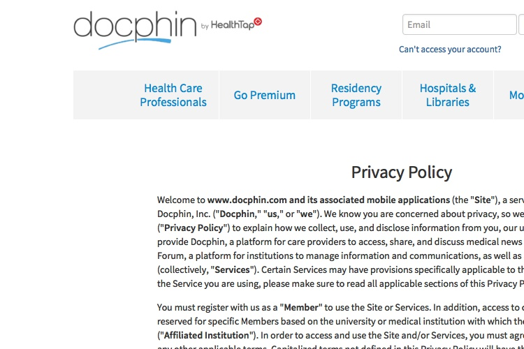 Privacy Policy Template Generator Free - Healthcare privacy policy template