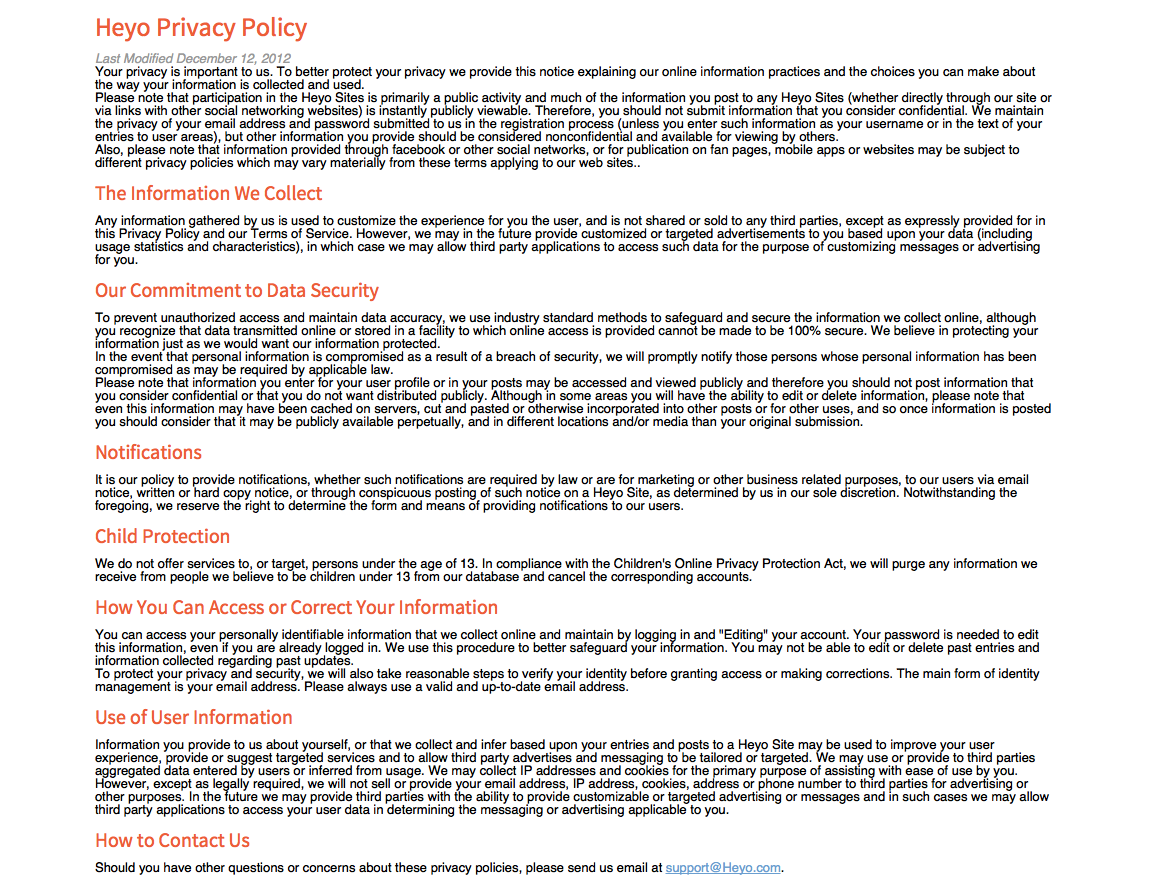 Privacy Policy Template Generator Free - Website privacy policy template